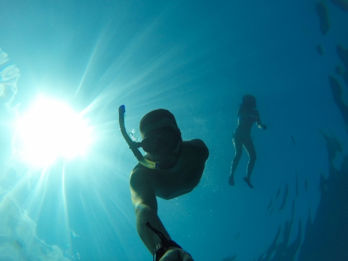 Free diving or apnea